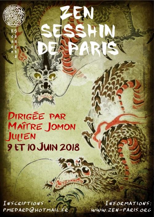 Affiche Sesshin de Paris Juin 2018