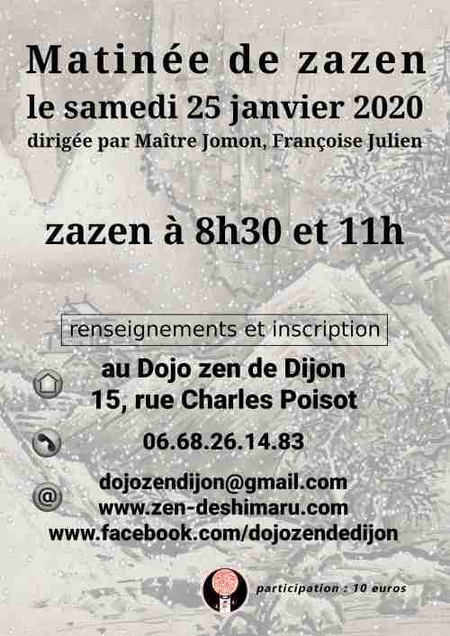 matinée de zazen du samedi 25 janvier 2020
